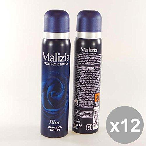 Set 12 MALIZIA Deodorante Donna Spray 100 Blue Deodoranti per il corpo