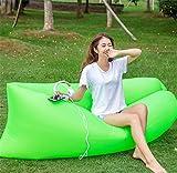 Yeying123 Aufblasbares Sofa-Im Freien Tragbare Luft-Sofa-Taschen-Aufblasbare Blatt-Freizeit-Schnelles Aufblasbares Bett-Liege-Strand-Sofa,7