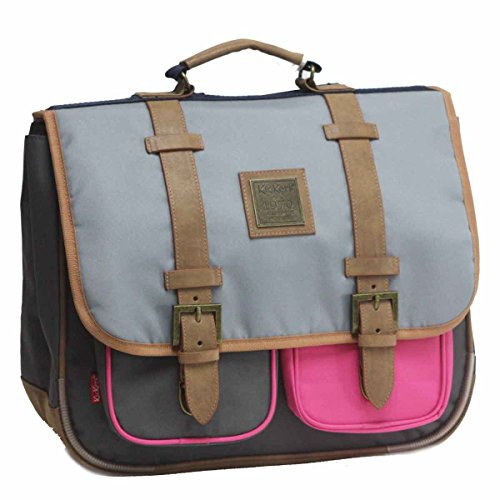 Cartable Gris et Rose Enfant Kickers