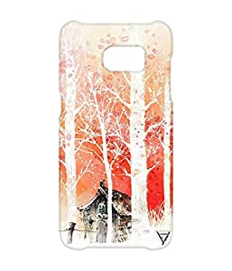 Vogueshell Snow Pattern Printed Symmetry PRO Series Hard Back Case for Samsung s7 Edge