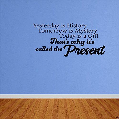 wandaufkleber 3d schmetterling Gestern ist Geschichte morgen ein Rätsel Heute ist es ein Geschenk, deshalb wird es Gegenwart genannt