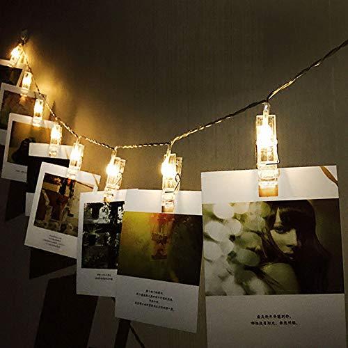 GDDQSDC Luz LED Cadena Clip Foto - Luces Cuerda Hadas