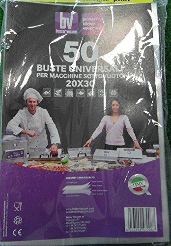 BUSTE X SOTTOVUOTO ALIMENTI BESSER VACUUM 200X300 IMBALLO DA 50 CONF. IMBALLO DA 50 CONF.