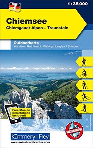 Chiemsee: Nr. 7, Outdoorkarte Deutschland, 1:35 000, Mit kostenlosem Download für Smartphone (Kümmerly+Frey Outdoorkarten Deutschland)
