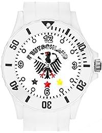 897a07905beb Taffstyle® Fanartikel Silikon Armbanduhr Gummi Trend Watch Quarz Fan Uhr  mit Fussball Weltmeisterschaft WM