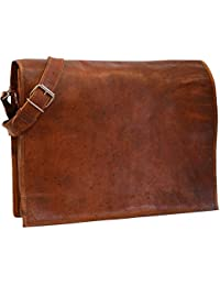 IHandikart Leather Hand Held Messenger Bag For Unisex Size H(11)*L(13)*W(4)