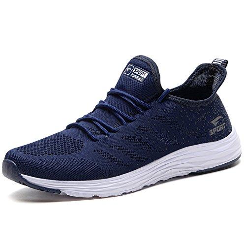 AZOOKEN Herren Damen Sneaker Laufschuhe Sportschuhe Straßenlaufschuhe leicht Walkingschuhe Running Turnschuhe Shoes(635-BL39)