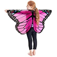 GJKK Kind Kinder Jungen Mädchen Karneval Kostüm Böhmischen Schmetterling Gedruckt Schmetterlingsflügel Schal Kostüm Zubehör Flügel Schal Cape Tuch Butterfly Wings Schmetterling kostüm