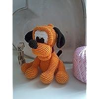 Pluto _ cane all'uncinetto Amigurumi. Regalo per bambini e neonati. pupazzo sicuro ed ecologico.Idea regalo da collezione