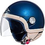 AXO Helm Subway Jet, Blau/Beige, XL