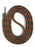 SNORS - Schnürsenkel - SICHERHEITSSENKEL Schlamm/Orange 120cm, ca. 5mm - RUNDSENKEL für Arbeitsschuhe, Wanderschuhe, Trekkingschuhe