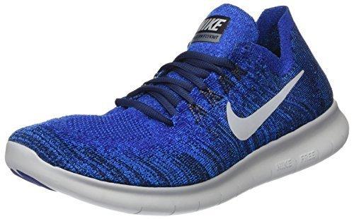 Preisvergleich Produktbild NIKE Men's Free RN Flyknit 2017 Running Shoes (7, Grey/Navy Blue-M) (7, Blue)
