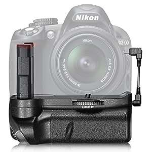 Neewer® Batterie Grip Vertical Professionnelle pour NIKON D3100 / D3200 / D3300 SLR Appareil Photo Numérique EN-EL14 Batterie