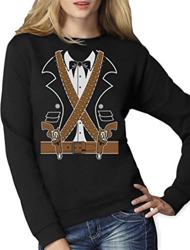 Kostüm Mexikanischer Ganove Mariachi Pistolen Frauen Sweatshirt Medium (Outfits Mariachi)
