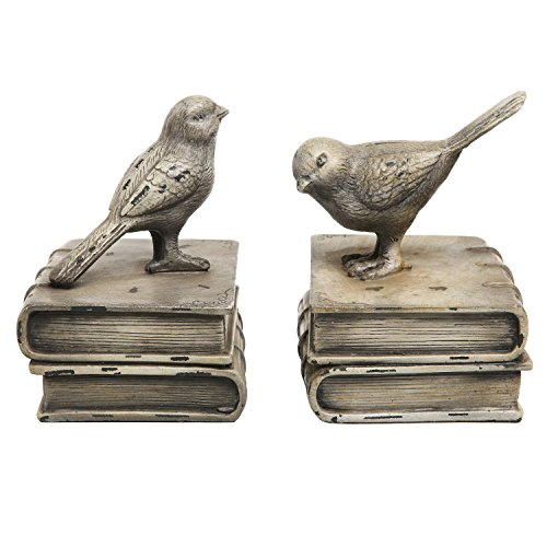 Vintage Style Deko-Vögel & Bücher Design Keramik Bücherregal Buchstützen/Papier Gewichte–MyGift Home