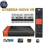 GTMEDIA V8 Nova DVB S2 TV Satellite Receiver Satellite decodificador Support 1080P Full HD PowerVu Biss Key Newca CCCAM con Built-in Wif - Naranjai
