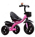 MASLEID Kinder Dreirad Fahrradpedal 2-3-5-jährigen Jungen und Mädchen , pink