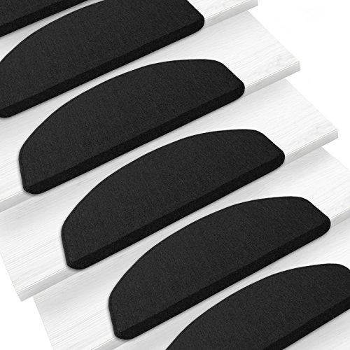 Teppich London - schwarz - auch passend zum Stufenmatten Set London - drei Größen (67x200cm)