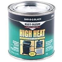 Rust-Oleum 7778730 1/2-Pint 8-Ounce Protective Enamel, Bar-B-Que Black - 6 Pack