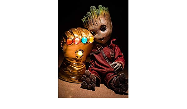 DIY 5D Diamond Painting Kits for Kids /& Adults,Full Drill Crystal Rhinestone Painting by Number Kits with The Theme of Marvel Groot Perfect Gift for Kids Infinite Gloves 12 x 16 Inch