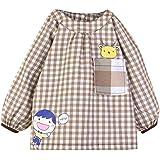 Happy Cherry Blusón Babero Babi Impermeable de Mangas Largas Protección de Ropa Infantil Delantal de Pintura Dibujo para Bebés Niños Niñas Varios Colores 3 Tallas a Elegir