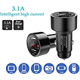 [Anti Car Lost] Sigill Smart Charge 3.1A, Dual Port, LED Display, Intelligent Car Tagging GPS And Bluetooth Enabled Car Charger For All Smartphones And Tablets