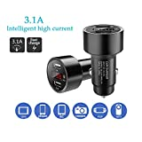 #7: [Anti car lost] Sigill Smart Charge 3.1A, Dual Port, LED Display, Intelligent Car Tagging GPS and Bluetooth Enabled Car Charger For All Smartphones and Tablets