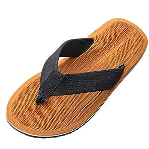 Vertvie Herren Flip Flops Sommer Schuhe Strand Sandalen Indoor Outdoor Slipper Zehentrenner Pantoletten