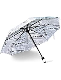 Kraptick Travel Newspaper Umbrella - 60 MPH Windproof Lightweight for Men Women and Kids, Compact Travel Unique Umbrellas