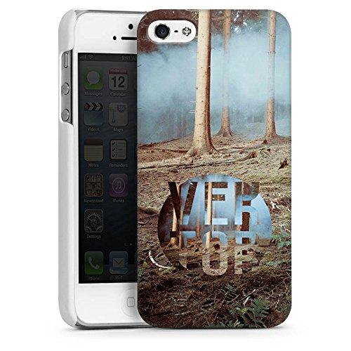 Apple iPhone 5s Housse Étui Protection Coque Arbres Forêt Sol CasDur blanc