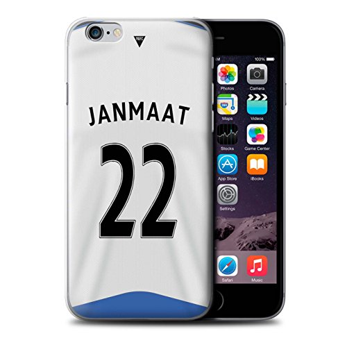 Offiziell Newcastle United FC Hülle / Case für Apple iPhone 6 / Pack 29pcs Muster / NUFC Trikot Home 15/16 Kollektion Janmaat