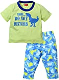 Kanvin Boys' Clothing Set (KKSSB16330A-3/4, Green and Blue, 3-4 Years)