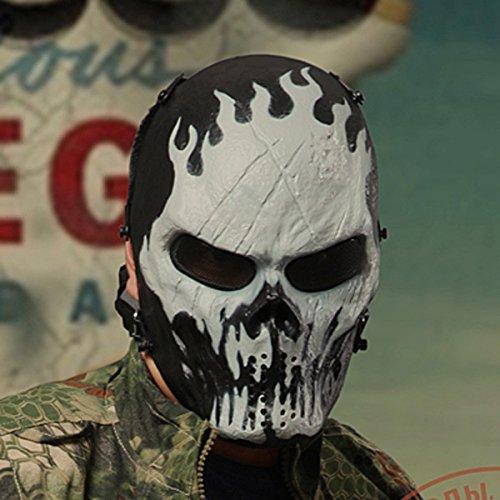 Metall-Netz-Augen Maske Schutz für BB Airsoft Maske Hockey Cosplay M06 Ghost Fire