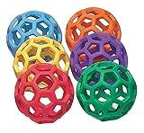 RubberFlex GrabBalls 6er-Set / Bälle mit Netzstruktur / Durchmesser: 10 cm / Einzelgewicht: 85 g von SPORDAS