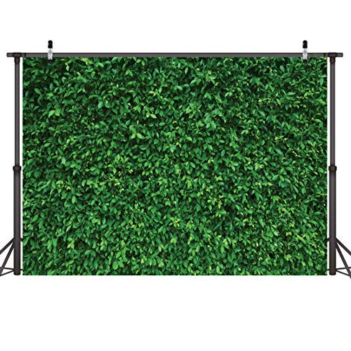 LYWYGG 7x5FT Grün Blätter Fotografie Hintergrund Natürliche Landschaft Hintergrund Klare Farbe Faltbare Einfach Zu Tragen für Geburtstagsfeier Outdoor-Aktivität Studio requisiten CP-87