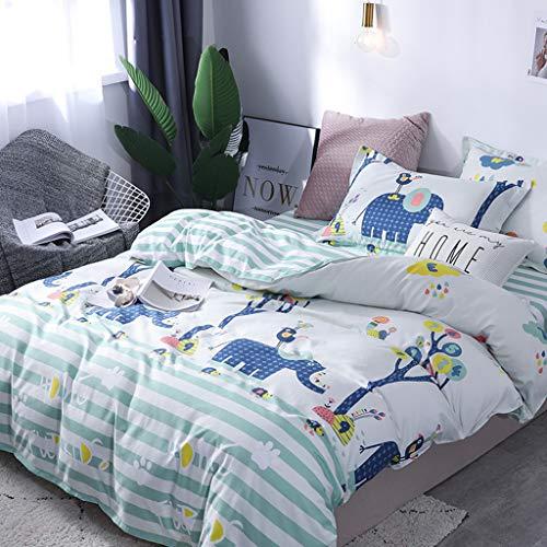 SOMESUN Kinderzimmer Karikatur Tier 4 Stück Bettwäsche Zuhause Hotel Schlafzimmer Tagesdecke Bettlaken Kissenbezüge Gemütlich Weich Atmungsaktiv Bettdecke Bettwäsche Set