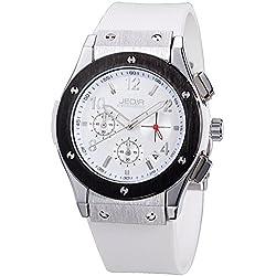YPS Men Number&Nail Shape Scale Quartz Movement Multifunction Sub Dials Calendar Luminous Wrist Watch WTH5317