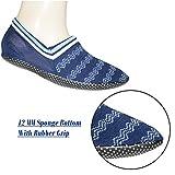 #7: Footmate Unisex Anti Slip Slipper Socks; 12MM Sponge Bottom With Rubber Grip