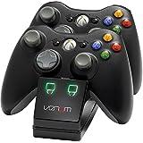 Station de charge 2 packs de batteries inclus pour Xbox 360 noir