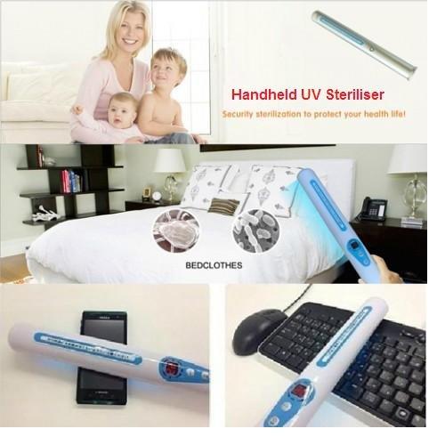 Handheld UV Steriliser (Blue) - Kills 99% Bacteria & Germs in One Scan!