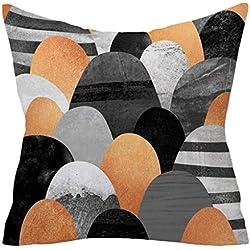 Dtuta Coussins Taie d'oreiller Pillowcase Polyester CâLin Taie d'oreiller Confortable Confortable Maison Canapé Bureau Coussin 45X45Cm Coussin Carré