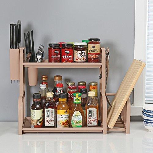 kphy-kitchen Regal, Gewürz Würze Utensilien mit 2Double Layer Board Landung Messer Rack coffee