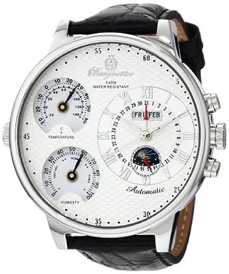 Reloj de caballero Burgmeister Montana BM309-113L (54mm) automático, correa de piel color negro de Burgmeister