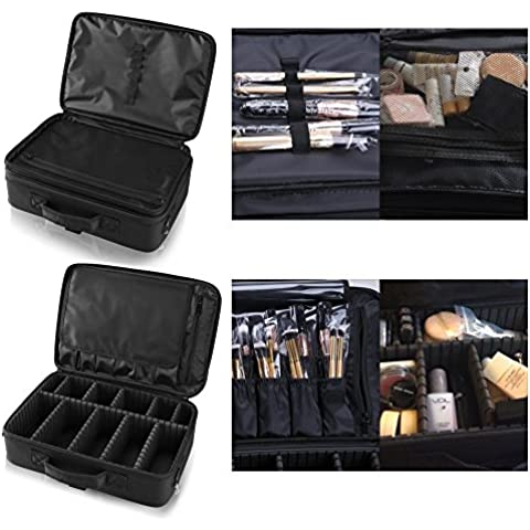 Hotrose pincel grande de maquillaje profesional Espacio bolsa - Artista cosmética organizador Kit - manejar bolso - cuadro