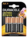 #7: Duracell Alkaline AA Battery with Duralock Technology - 8 Pieces