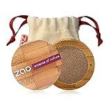 ZAO Pearly Eyeshadow 117 bronze braun Lidschatten schimmernd in nachfüllbarer Bambus-Dose (bio, vegan, Naturkosmetik) 101117
