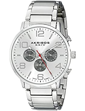 Akribos XXIV Herren-Armbanduhr AK803SSW Analog Quarz