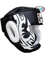 Farabi Sports - Protector de cara para boxeo (piel) Talla:mediano