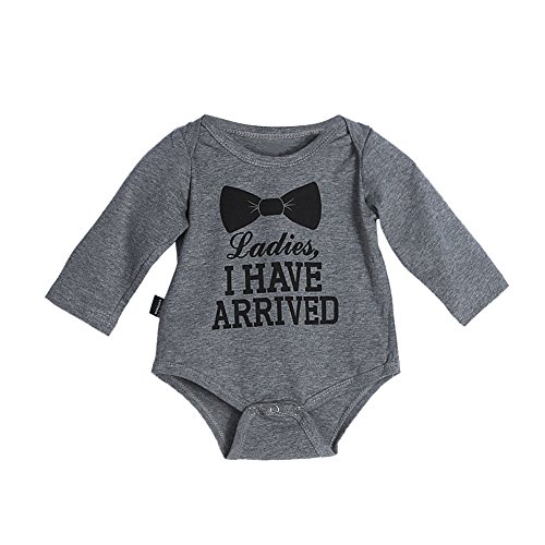 Baby Infant Toddler Bowknot Letter Print Rompers Jumpsuits Bodysuit Outfit
