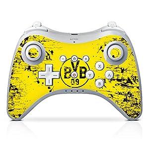 DeinDesign Skin Aufkleber Sticker Folie für Nintendo Wii U Pro Controller Borussia Dortmund BVB Fanartikel